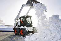 Уборка снега мини эскаваторами,вывоз самосвалами