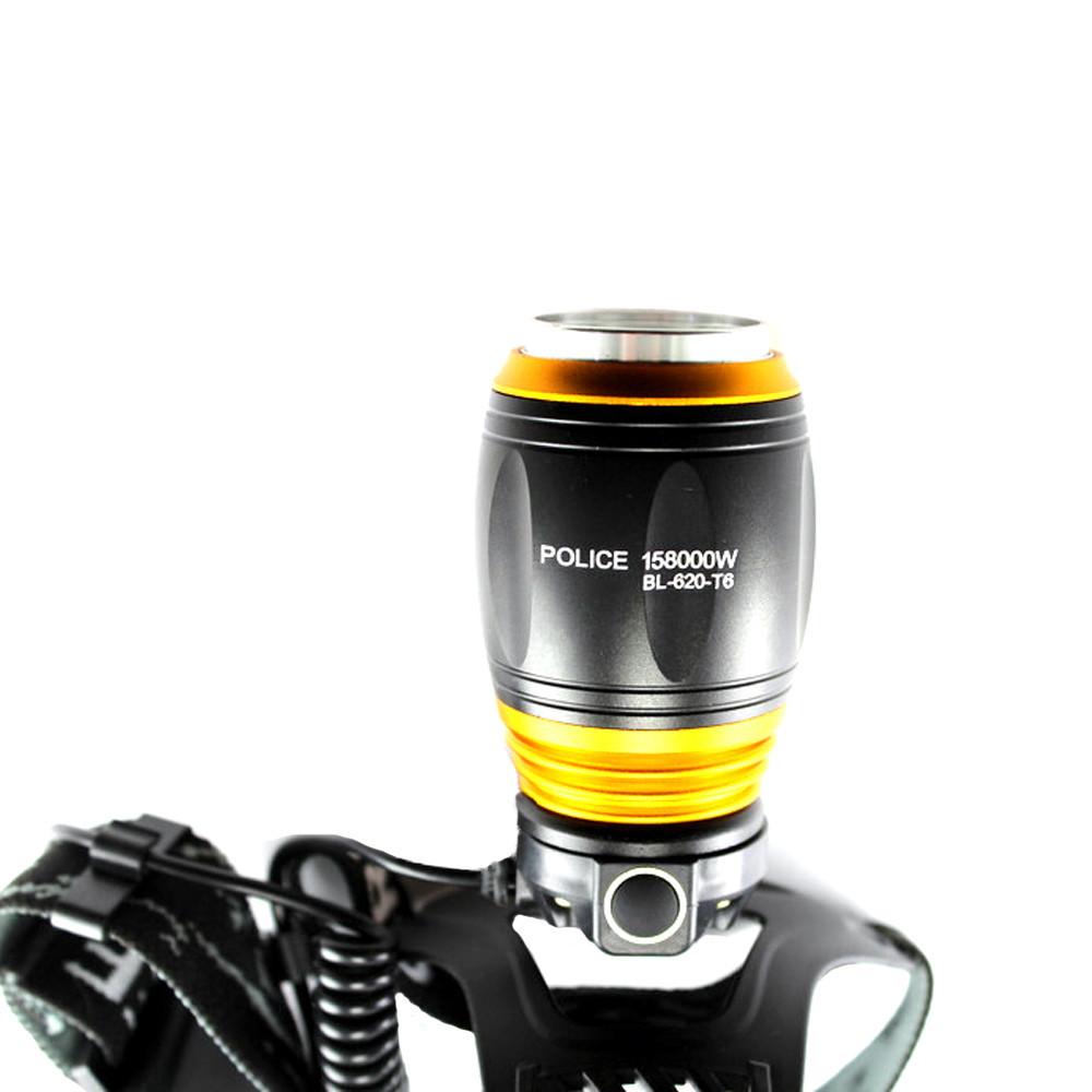 Налобный фонарь Bailong Police BL-T620-2  ультрафиолеттовый и белый + ПОДАРОК: Держатель для телефонa L-301