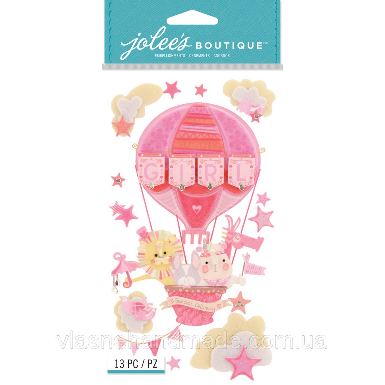 Наклейки 3D - Baby Girl - Joleen's Boutique - 13 шт.