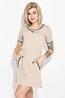 Костюм женский (Блузка, юбка) 74P104 (Бежевый)