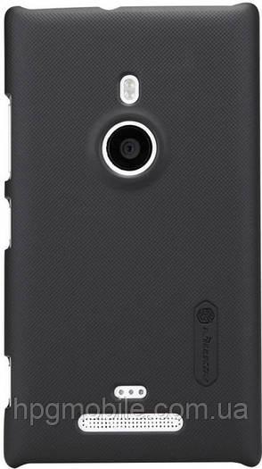 Чехол для Nokia Lumia 925 - Nillkin Super Frosted Shield (пленка в комплекте), черный