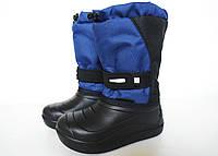 Дутики детские зимние (черно-синие)