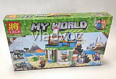 Игровой конструктор майнкрафт minecraft аналог My world 3в1 Lele 446 деталей 33221