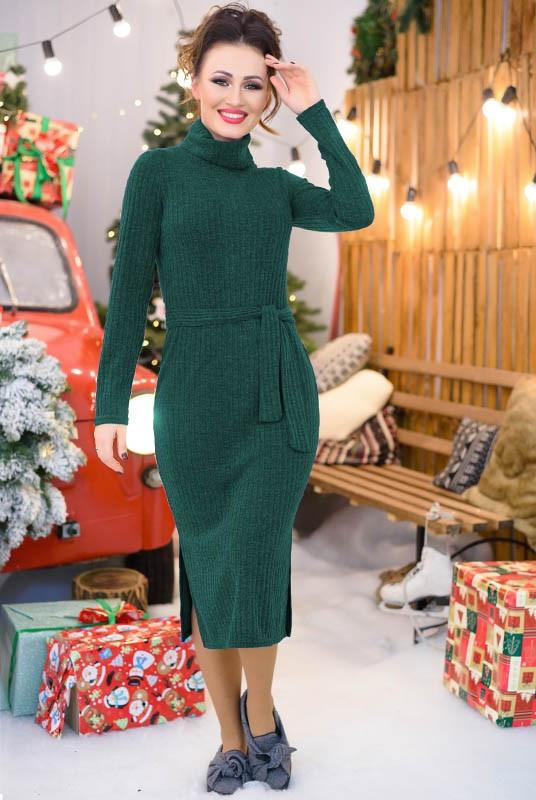 Повседневное теплое платье Мария 48-60рр