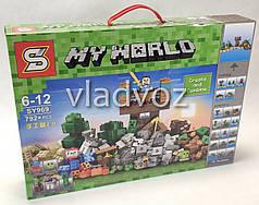 Игровой конструктор майнкрафт minecraft 15 отдельных модулей аналог My world 792 детали SY969