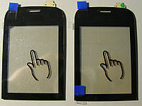 Сенсор (тачскрин) Nokia 202 Asha чёрный