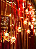 "Новогодняя гирлянда-бахрома на окно «Любимые снежинки"", фото 1"