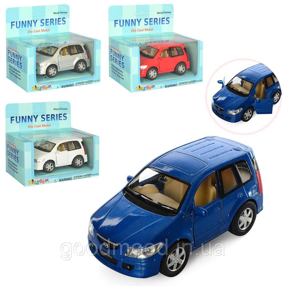 Машинка KT 4016 W мет., інерц., гум.колеса, відчин.двері, 4 кольори, кор., 13-12-6,5 см.