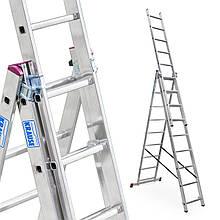 Лестница алюминий 3х9 KRAUSE CORDA 532 см