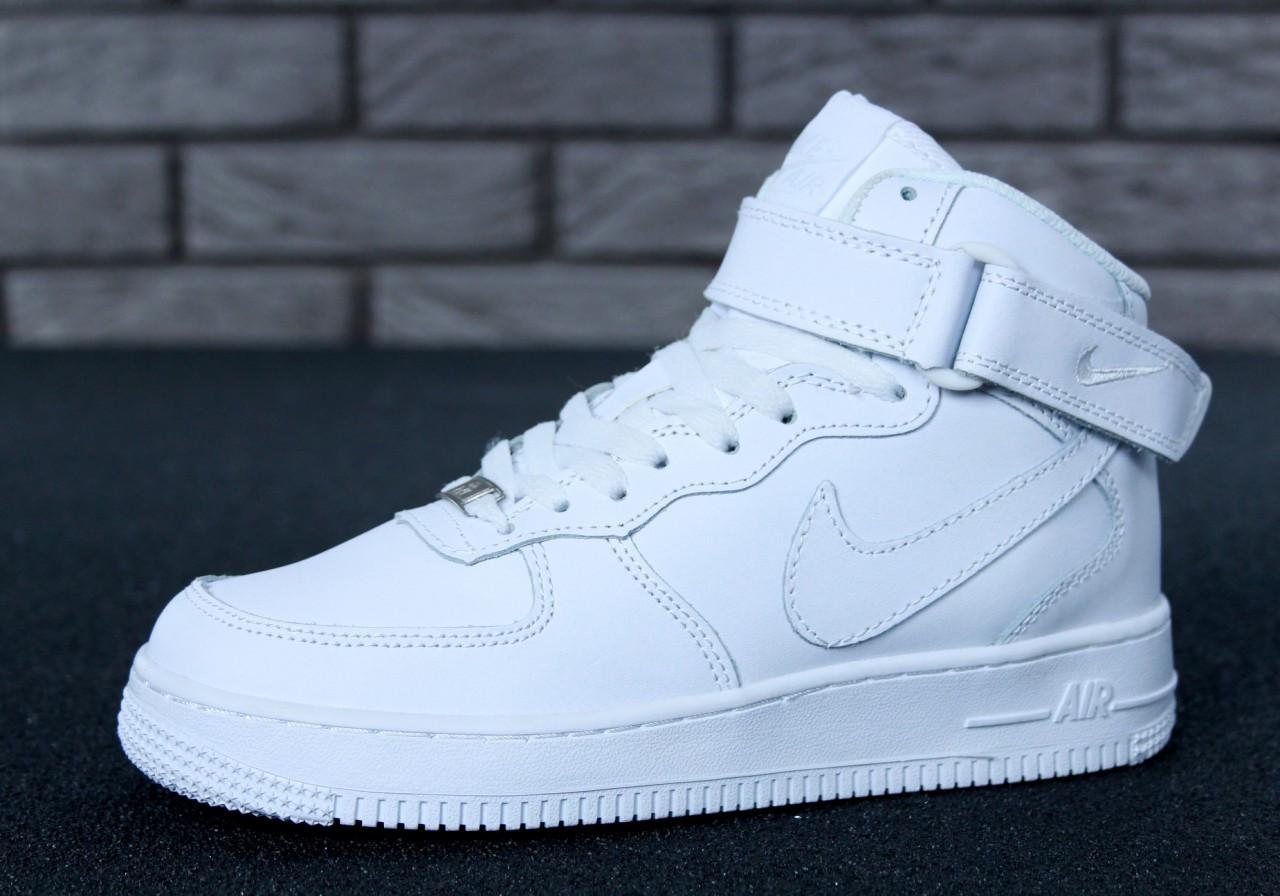 """Зимние кроссовки на меху Nike Air Force High Winter """"White"""" (Белые)"""