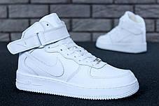 "Зимние кроссовки на меху Nike Air Force High Winter ""White"" (Белые), фото 2"