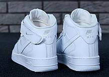 "Зимние кроссовки на меху Nike Air Force High Winter ""White"" (Белые), фото 3"