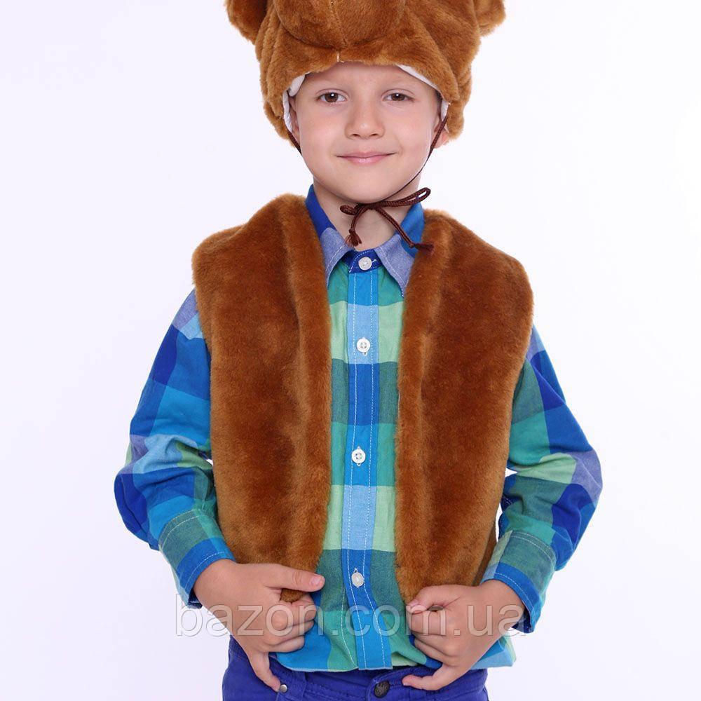 Дитячий маскарадний жилет 35 см коричневий