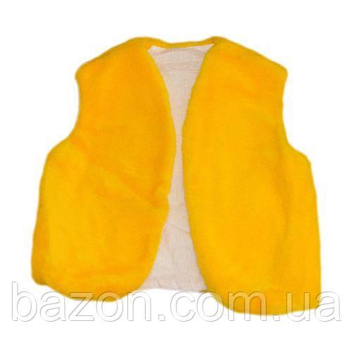 Детский маскарадный жилет 35 см желтый