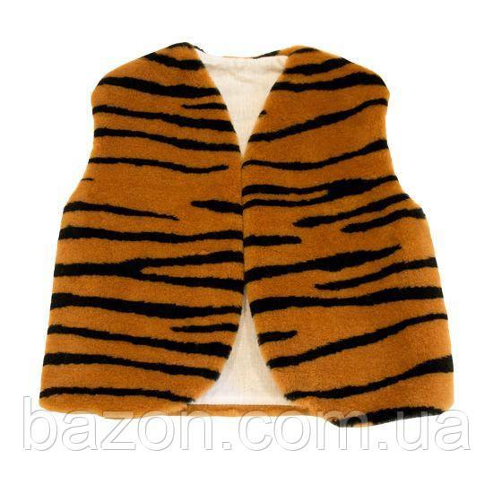 Детский маскарадный жилет 35 см тигровый