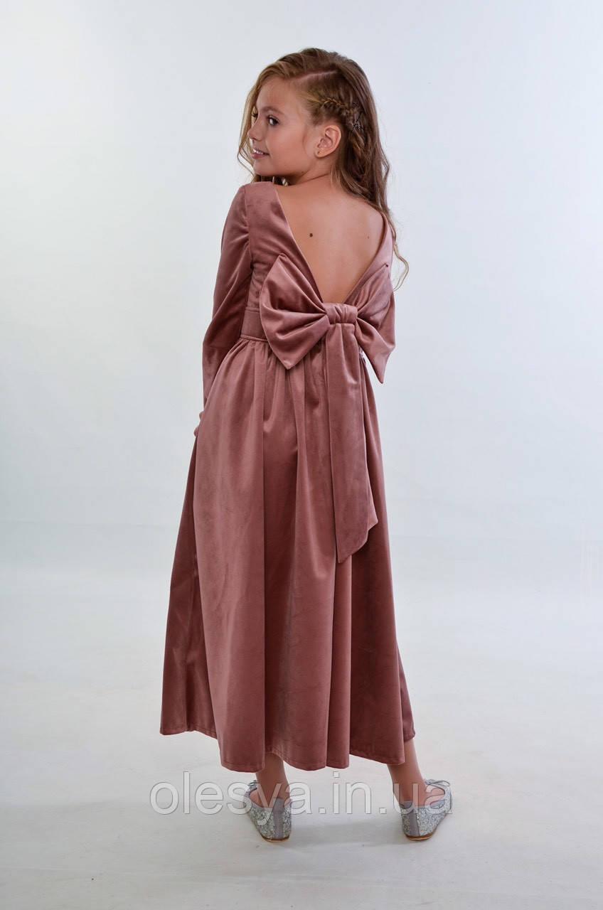 Длинное, шикарное замшевое платье на девочек Диана Супер новинка!