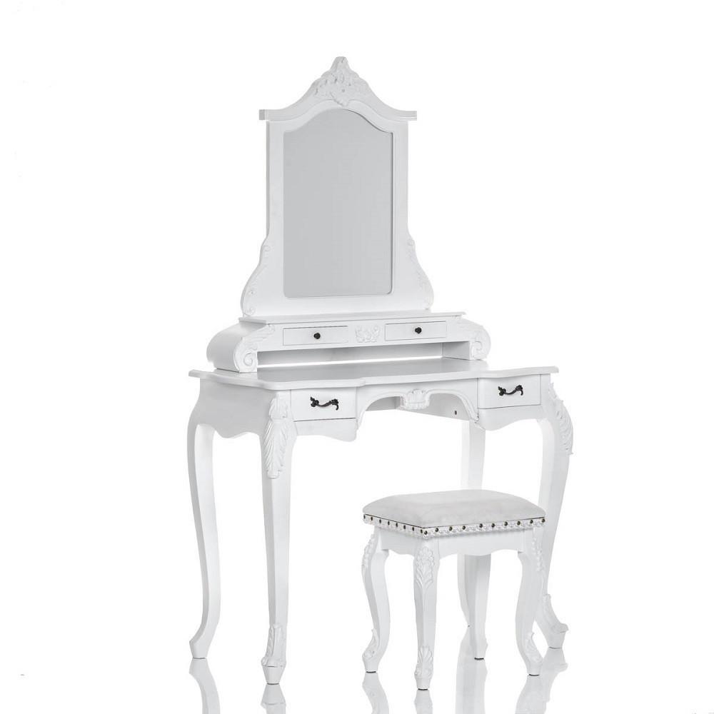 Туалетний столик білий + стілець