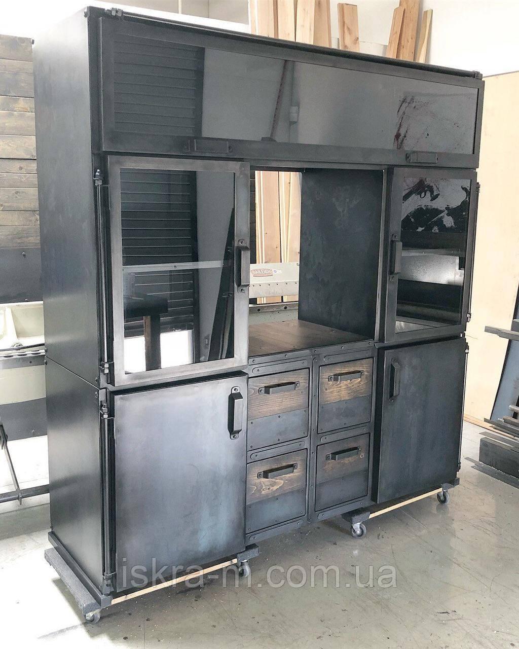 Офисный шкаф стиль индастриал