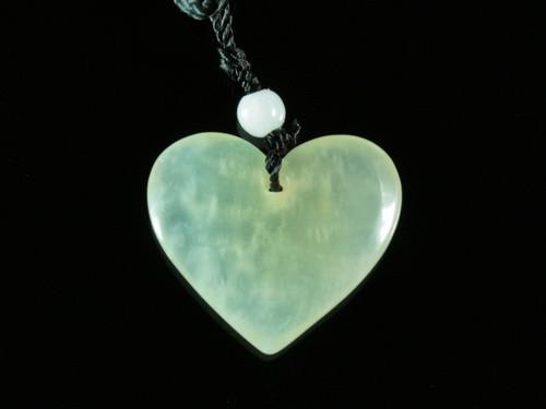 Кулон нефритовый сердце
