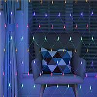 Гирлянда светодиодная Сетка 240 LED Синяя, Белая, Мульти  2 х 2 м