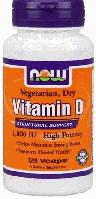 Витамин Д, Now Foods, Vitamin D 1,000 IU, 120 Vcaps,