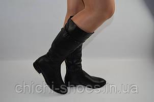 Сапоги женские зима низкий ход чёрные кожа Mafia 41060-2