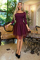 Вечернее платье с фатиновой юбкой