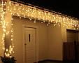 Новогодняя гирлянда Бахрома 500 LED, Белый теплый свет 24 м, фото 4