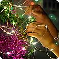 Новогодняя гирлянда 100 LED, Длина 11 М, Белый теплый свет 230В, фото 6