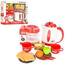 Набір побутової техніки 5229 чайник, соковижималка, посуд, продукти, муз., світло, бат., кор, 42-37-