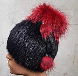 Женская зимняя шапка из натурального меха