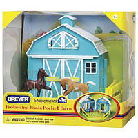 Ігровий набір Стайня для лошат. Breyer Frolicking Foals Pocket Barn, фото 1
