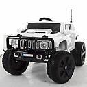 Дитячий електромобіль Джип Hummer, 4 мотора по 45W, Шкіра, EVA гума, Амортизатори, дитячий електромобіль, фото 4