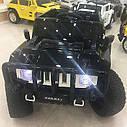 Дитячий електромобіль Джип Hummer, 4 мотора по 45W, Шкіра, EVA гума, Амортизатори, дитячий електромобіль, фото 7