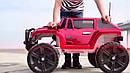 Дитячий електромобіль Джип Hummer, 4 мотора по 45W, Шкіра, EVA гума, Амортизатори, дитячий електромобіль, фото 5