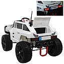 Дитячий електромобіль Джип Hummer, 4 мотора по 45W, Шкіра, EVA гума, Амортизатори, дитячий електромобіль, фото 9