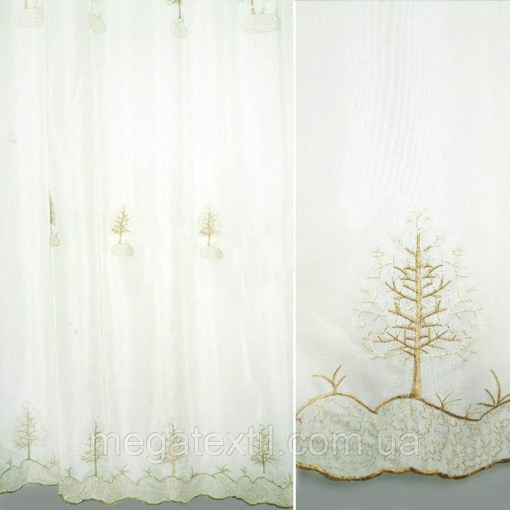 Вуаль біла з вишивкою люрексом ш.280 (30114.003)