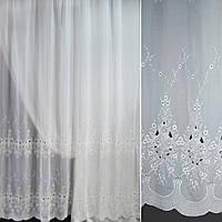 Вуаль біла з вишивкою ш.275 (30118.001)