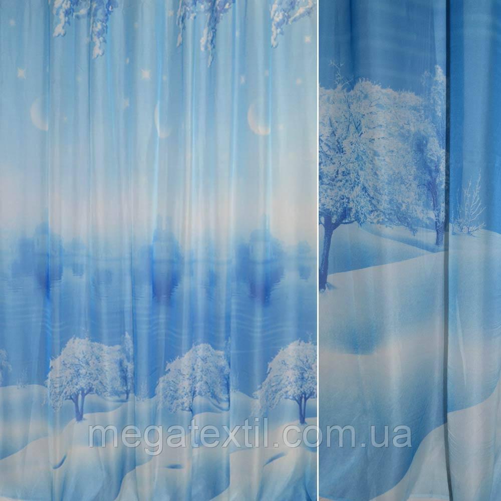 Вуаль фото блакитна зима, церква ш.265 (30150.001)