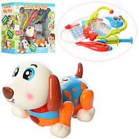 Собака 11032  21см,доктор, муз (анг) ,зв,св, танцует, стетоскоп, термом,шприц, на бат,в кор,39-16-34см