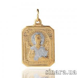Золотая ладанка Николай Чудотворец 6843
