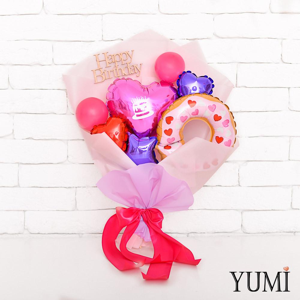 Милый букет воздушных шариков для девушки