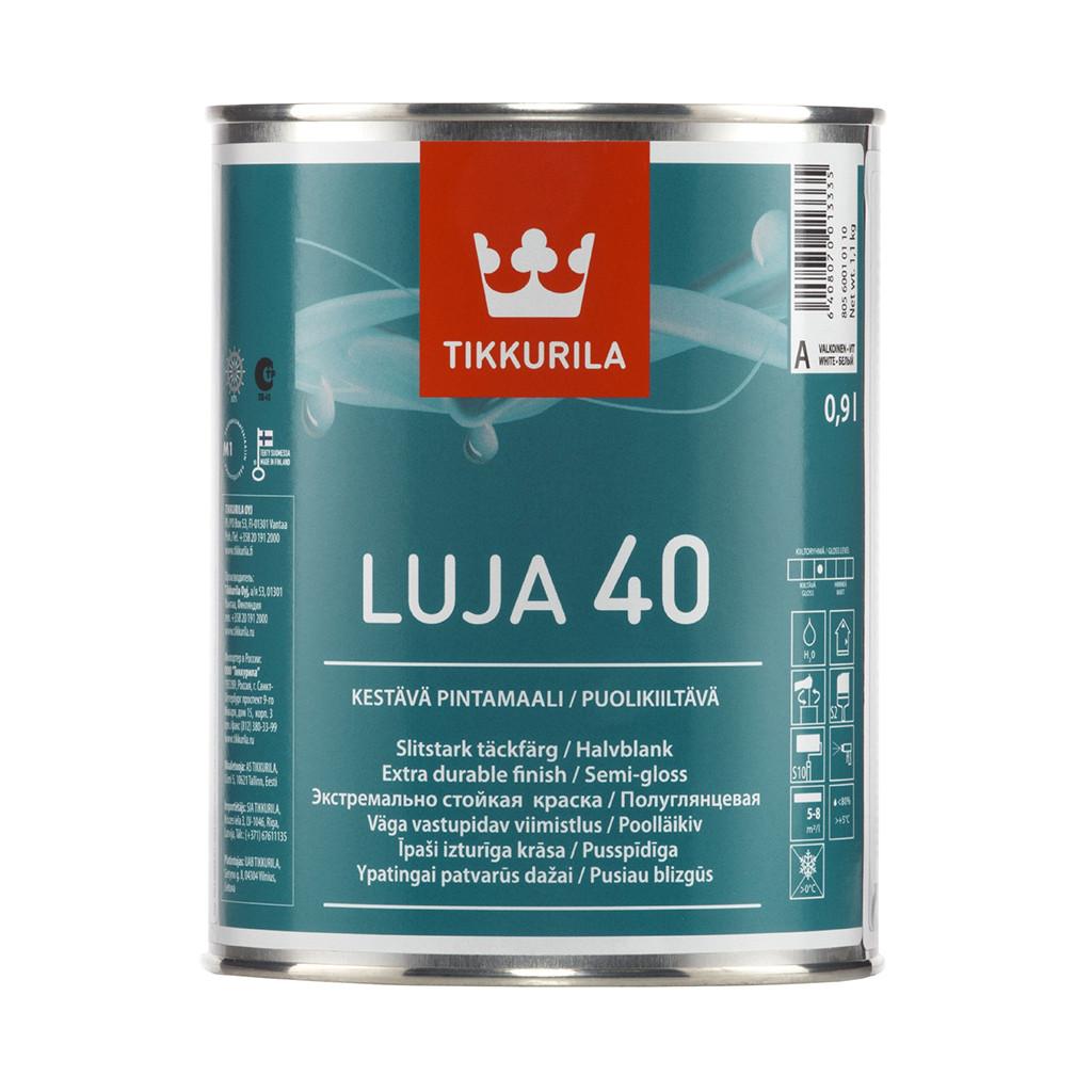 Фарба для стін Tikkurila Луя LUJA 40 0.9л (A) напівглянцева