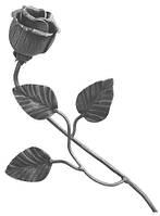 Кованая роза 450х160мм Арт. AD-50.100