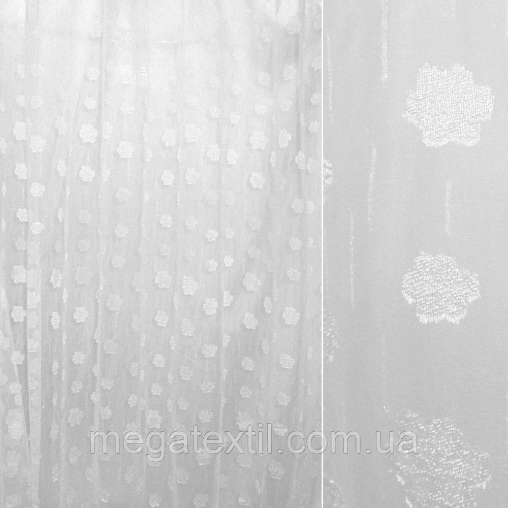 Органза орарі біла з атласним квіткою ш.280 (30210.001)