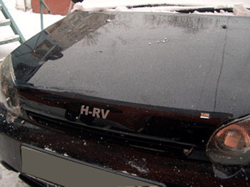 Дефлектор капота (мухобойка) HONDA HR-V 1999-2005 logo
