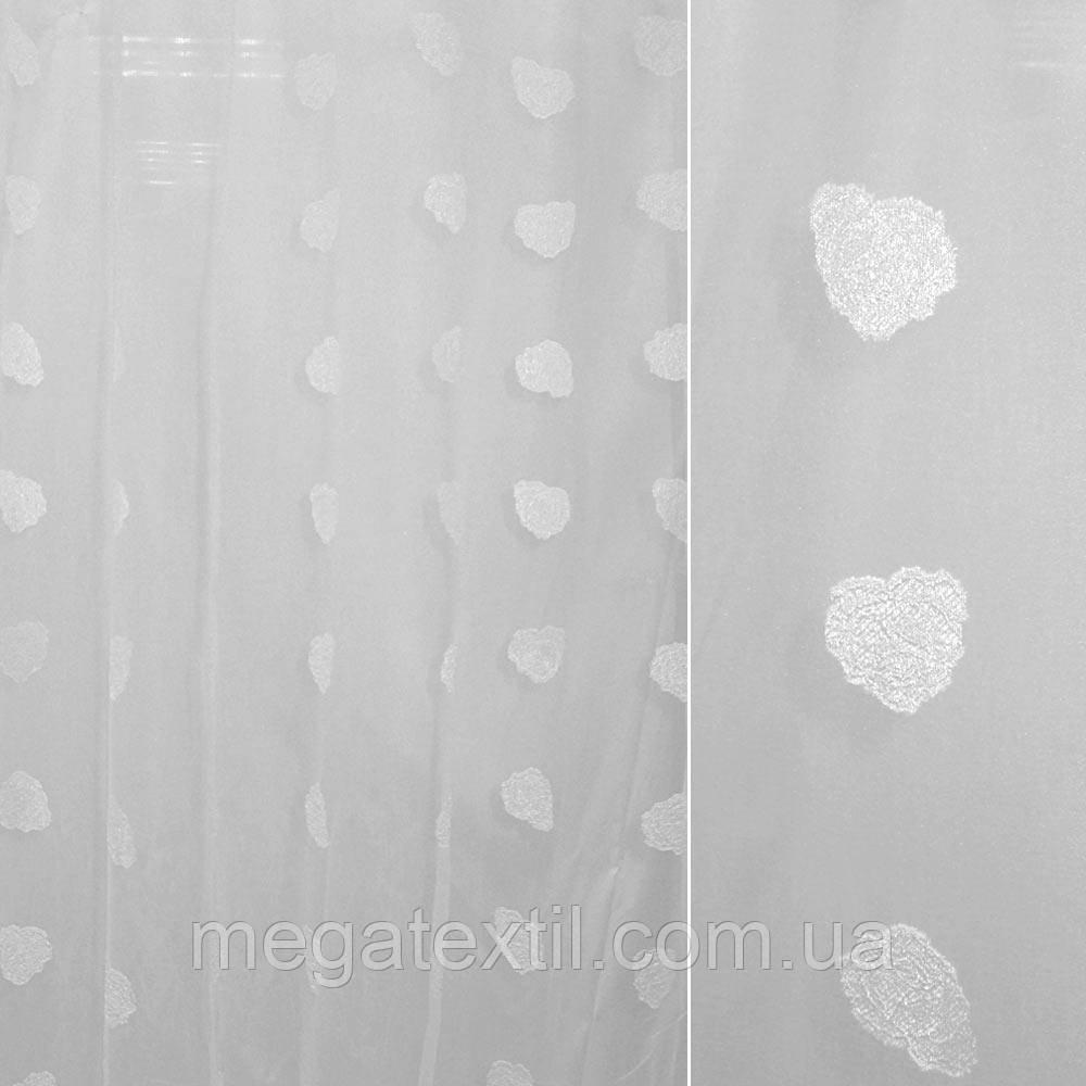 Органза орарі біла з атласним квіткою (троянда) ш.280 (30210.013)