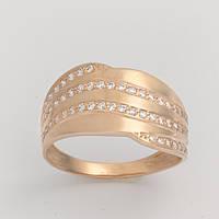 Золотое кольцо с фианитами КП1729