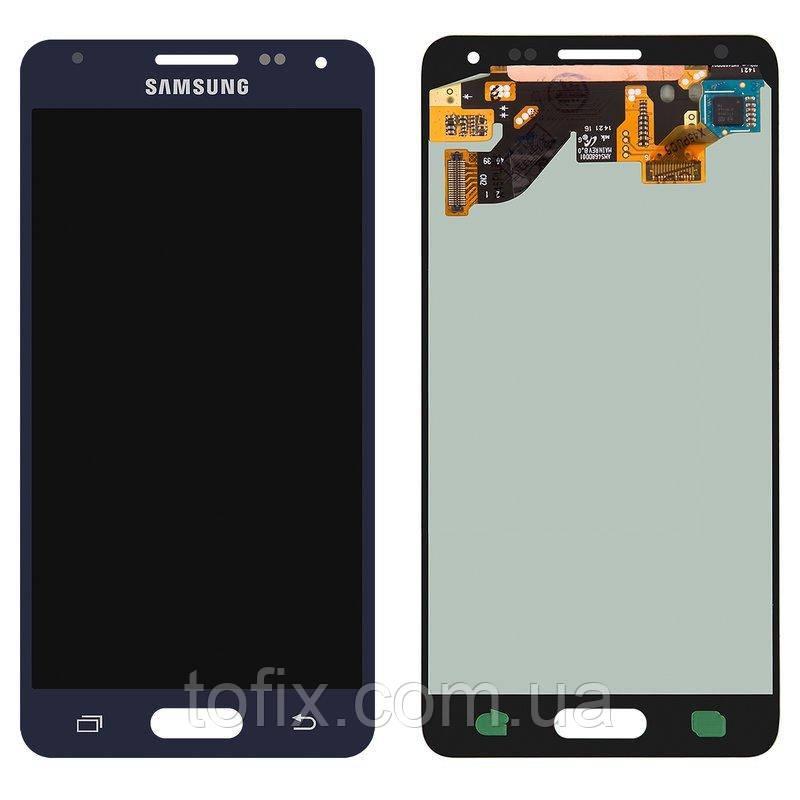 Дисплейный модуль (экран и сенсор) для Samsung Galaxy Alpha G850, Charcoal Black, оригинал