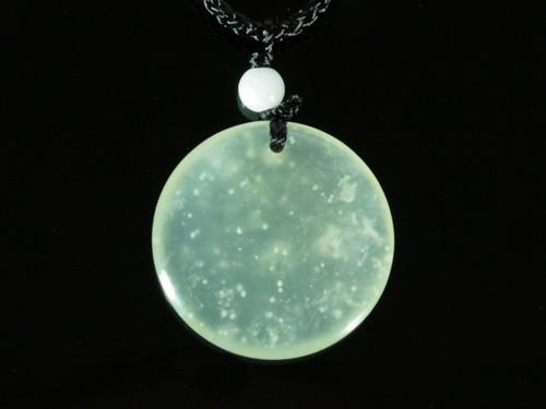 Кулон нефритовый  Луна